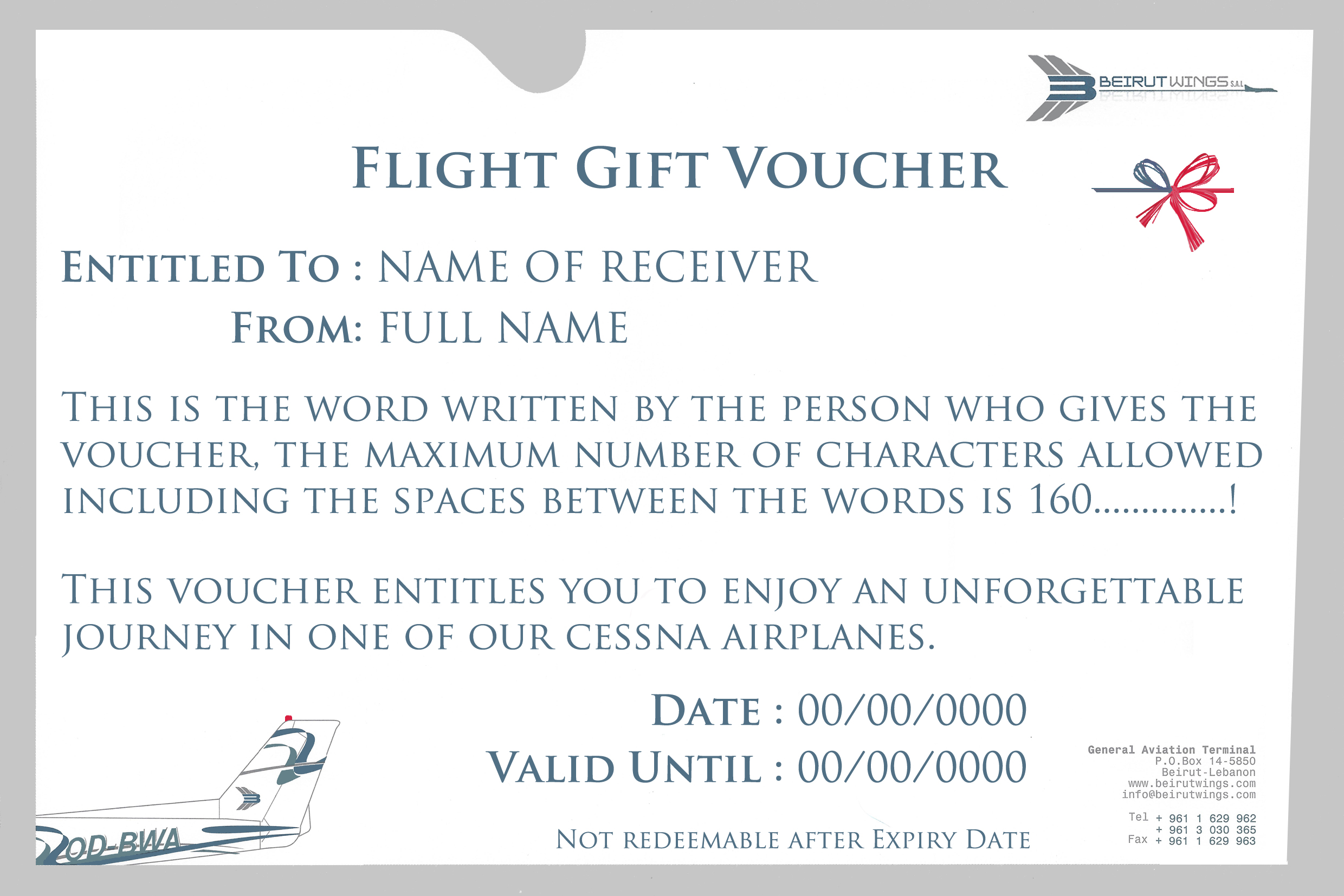 flight gift voucher